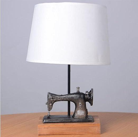 Lámpara de mesa,Lámpara de máquina de coser vintage Lámpara de mesita de noche Luz de noche Sala de estar/dormitorio / estudio Lámpara de mesa decorativa: Amazon.es: Iluminación