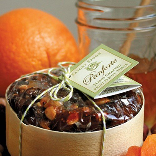 Panforte (Hand Crafted Fruit and Nut Torte) Gift Box (10 ounce) Passion Fruitcake