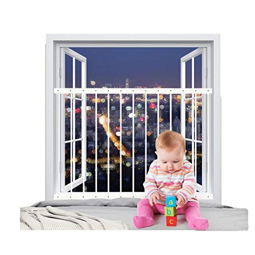 Fairy Baby Hole-Free Installation Child Safety Window Guard White,36.6''-61.8'' by Fairy Baby