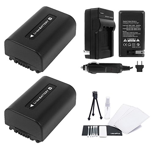 Ultra Pro NP-FV50 Battery 2-Pack Bundle with Rapid Travel...