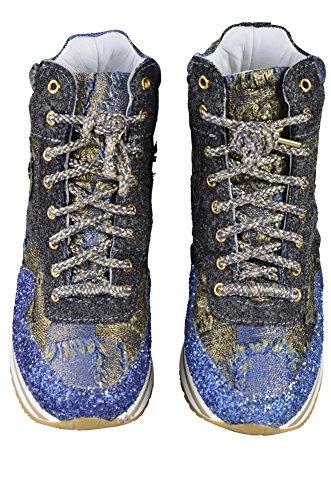 39 Tela Donna Tessile Scarpe Blu di Scarpa Gold 2Star 08BHqnw4n