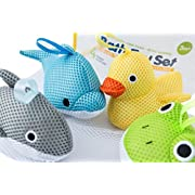 Bath Toys – Soft, Safe & Educational for Baby & Toddlers – Best Set for Kids of All Ages – Interactive Play & Games for Boys and Girls – Use In or Out of Tub - BONUS Case & Mesh Net Organizer Bag for Storage & Drying – Easy to Clean, Without Holes - NO Mold – Satisfaction Guaranteed!