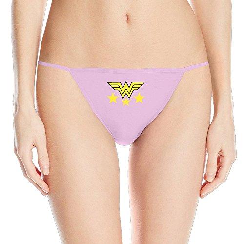 Wonder Woman America Star Womens G String Bikini Thong Underwear]()