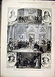 Old Original Antique Victorian Print 1879 Scenes Victor Hugo Ruy Blas Theatre Francais Queen 91Mar1