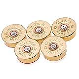 gun magnet refrigerator - 12 Gauge Polished Shotgun Shell Magnets in Brass - Set of 5