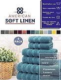 American Soft Linen 6-Piece 100% Turkish Genuine