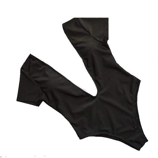 ZC Traje de baño de una Pieza para Mujer Escote en V Profundo Sexy ...