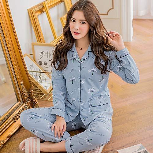 Wear Sets Home Dandelion Pajama Dukunkun Da Long m Sleeve Notte Pattern Abbigliamento Femminile L pg0qpwxt