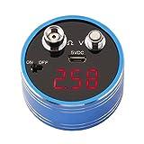Soondar Portable Micro Digital Volt Ohm Resistor Meter Voltmeter Ohmmeter Reader Multimeter Rechargeable DC 0-12V 0-20¦¸ Voltage Ohms Resistance Detector Tester Red LED Panel Display