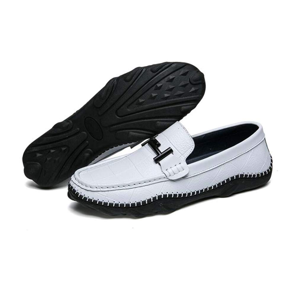 Y-H Herren Schuhe Frühlingsschuhe & Schlupfschuhe Erbsen-Schuhe Trekking-Reise-Schuhe Walking-Fitness-Schuhe Weiß 43