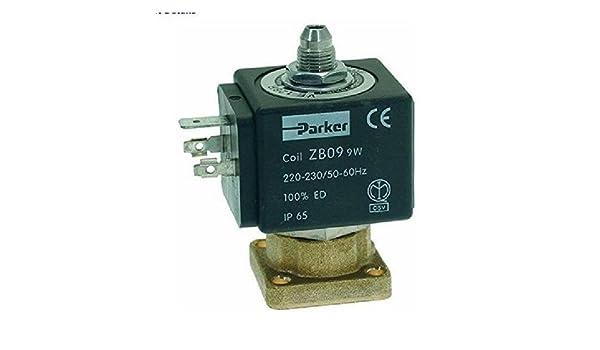Parker - Válvula solenoide (3 vías, 230 V, 50/60 Hz): Amazon.es: Hogar