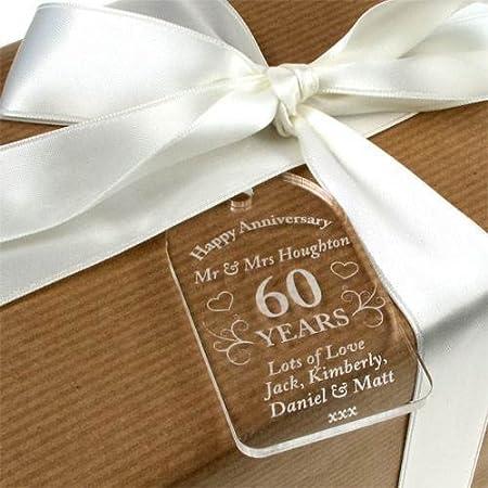 60th Wedding Anniversary Gift Tag 60th Anniversary Tag 60th Anniversary Gift Amazon Co Uk Kitchen Home