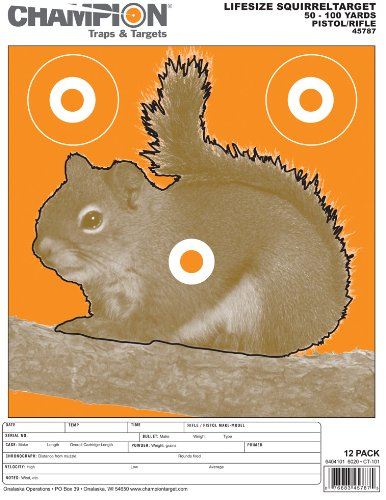 Vista Squirrel - Champion Traps and Targets, Squirrel Target Large (12 Pack)
