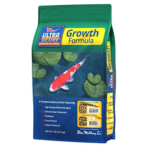 (Ultra Balance Premium Growth Formula Medium Pellet Koi Fish Food (5lb))