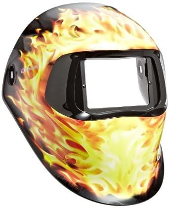 3M Speedglas Blazed Welding Helmet 100, Welding Safety 07-0012-00BZ, without Headband and 3M Speedglas Auto-Darkening Filter