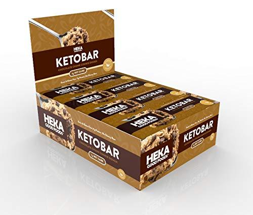 Heka Good Foods Chocolate Chunk Cookie Dough Keto Bars (12 Pack)