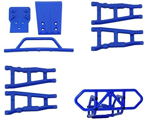 RPM Traxxas Slash 4X4 Blue Front & Rear Bumper Set & Front &