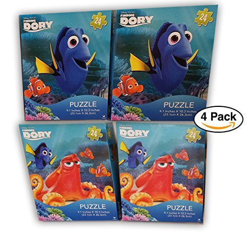 4 Pack Disney Pixar Finding Dory 24-piece Puzzle, For Party favors/ Giveaway / Goodie bags by Disney