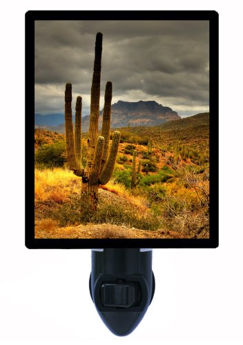 Cactus Night Light - Desert Sunset - Saguaro LED NIGHT ()