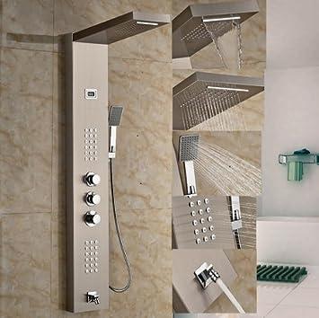 Panel de ducha termostático GOWE de cascada lluvia Columna de ...