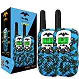 GoBig 6201 Voice Activated Adults and Kids 3 Mile Range 2 Way Radio Walkie Talkies Built in Flash Light Camo Blue (2 Pack)