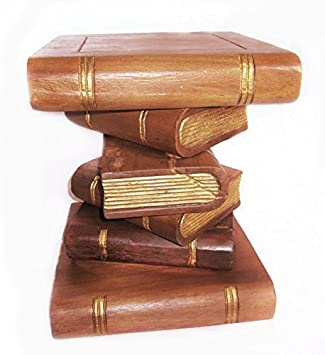Double Duck Stacked Books Ornamental Coffee Tablestool 42 Cm High