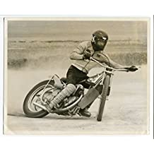 "Terry Guy Brakeless Jawa Photo 8""x10"" Cloverleaf Speedway"