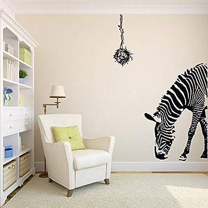 MEIWALL Dormitorio creativa tienda de ropa cálida Puerta Zebra Pegatinas de pared extraíble para del dormitorio