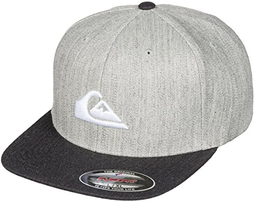 quiksilver-mens-stuckles-flexfit-hat-small-medium-heather-grey