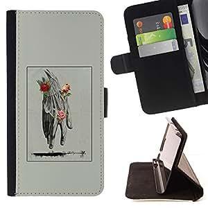 Momo Phone Case / Flip Funda de Cuero Case Cover - Mano Hombre Primavera Profundo Rose Significado - Sony Xperia Z1 Compact D5503