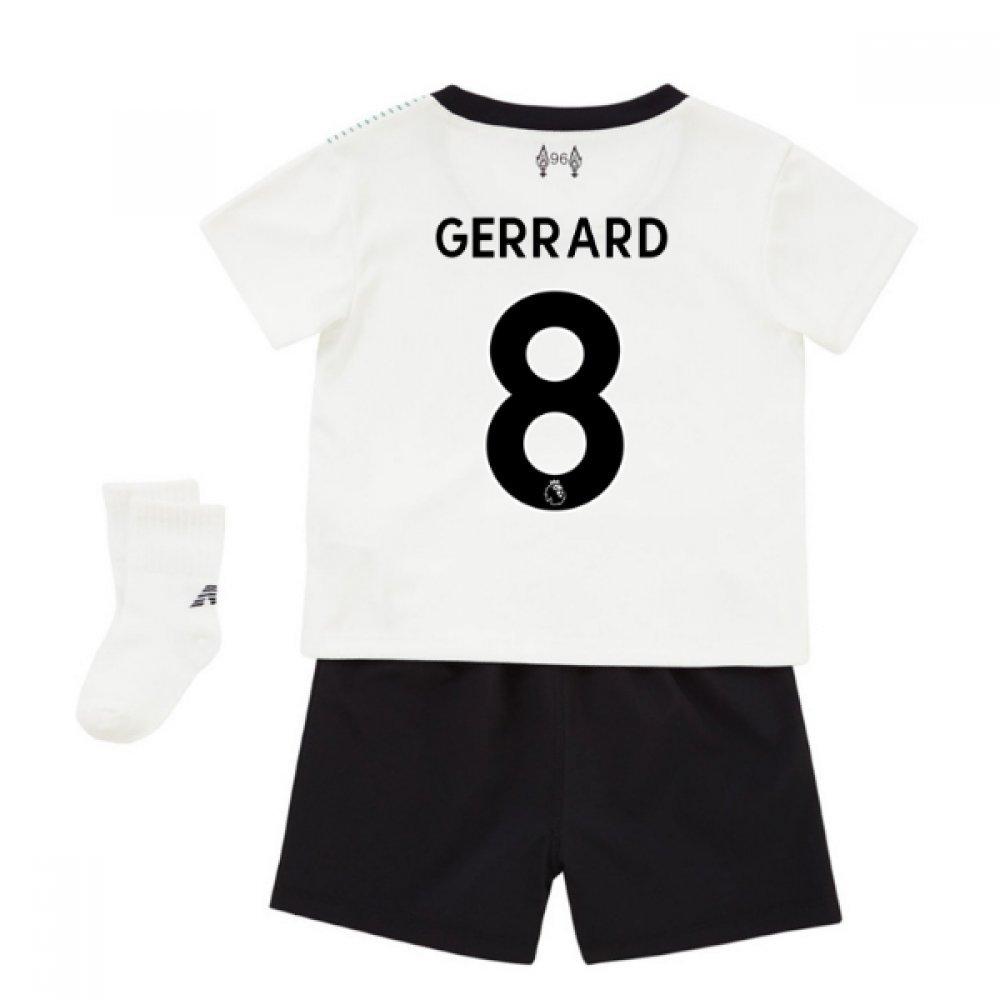 2017-18 Liverpool Away Baby Kit (Gerrard 8) B077PRX87WWhite 3-6 Mth (68cm)
