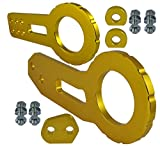 xv crosstrek tow hook - ICBEAMER Racing Style Anodized CNC Aluminum Tow Hook Kit Come with Front and Rear Tow Hook Screw [Color: Gold]