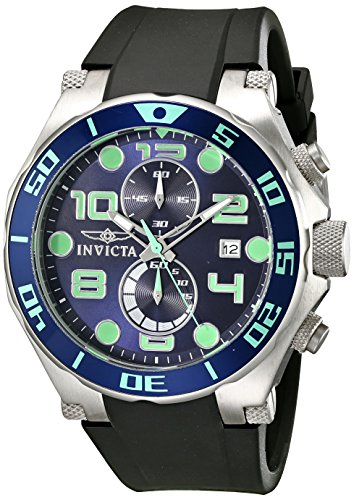 Invicta Mens 17813 Pro Diver Analog Display Quartz Black Watch
