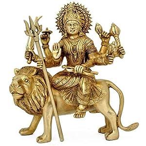 Maa Padma Farms Astadhatu (8 Metals) Brass Shri Durga Idol