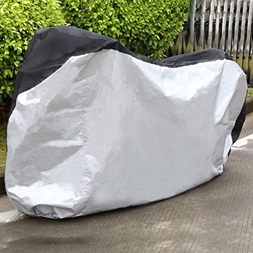 Amzdeal Bike Cover Heavy Duty 210D Oxford Bicycle Cover,Silver & Black Color - Size XL