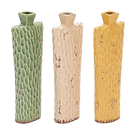 Deco 79 Ceramic Vase, 3 Assorted, 17 by 6