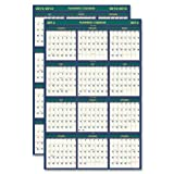 House of Doolittle Four Seasons Reversible 18 Month Write-On/Wipe-Off Wall Planner, 24 x