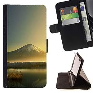 Momo Phone Case / Flip Funda de Cuero Case Cover - Mountain Lake;;;;;;;; - Samsung Galaxy J1 J100