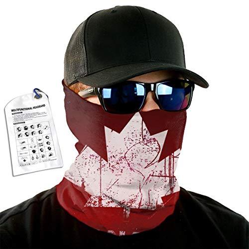 Anonymous Guest Variety Head Scarf Canada Flag Neck WarmerFace Mask Ski Headband