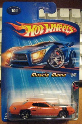Hot Wheels 2005 Muscle Mania 1971 Plymouth GTZ #101 ORANGE Kmart Exclusive 1/5 ()