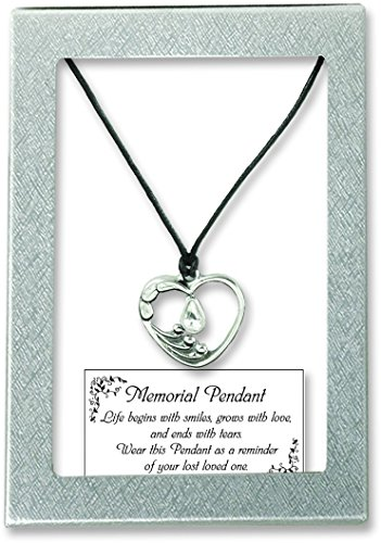 Cathedral Art TDP101 Heart Shape Pendant with Crystal Tear on 18-Inch Chain