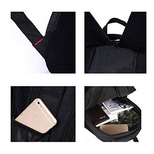 Sport Backpack Oxford Multifunktion groß Kapazität wasserdicht Freizeit Rucksack Outdoor Business Studenten Computer Tasche Pack für Männer und Frauen H50 x L34 x T15CM