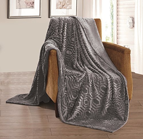 Best Review Of All American Collection New Super Soft Solid Brushed Flannel Throw Blanket (Queen, Ch...