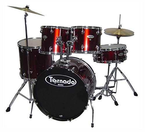 Mapex Tornado Tnd5254tcdr 5 Piece Drum Set With Hardware Throne And