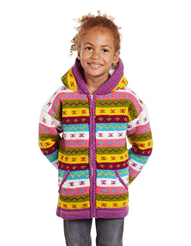Invisible World 100% Wool Hand Knit Lined Children's Jackets Lumi 6-7 Year Old