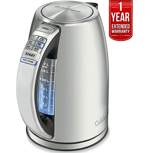 Cuisinart PerfectTemp Cordless Electric Kettle Brushed Stain