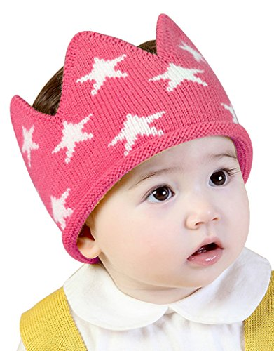 Toddler Boys Girls Crown Warm Soft Birthday Knit Crochet Beanie Hat
