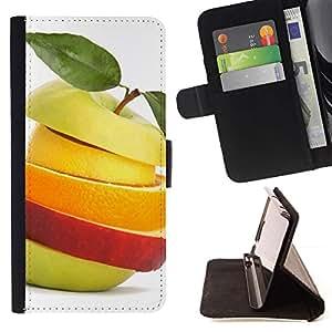 TECHCASE---Cubierta de la caja de protección para la piel dura ** Samsung Galaxy A5 ( A5000 ) 2014 Version ** --Macro de frutas helado de frutas