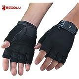 Boodun Fitness Half Finger Gloves For Weightlifting/Cross Training/Gym Workout(Black,Men&Women)