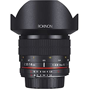 Rokinon AE14M-C 14mm f/2.8-22 Ultra Wide Angle Lens with Built-In AE Chip for Canon EF Digital SLR